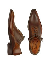 Forzieri Dark Brown Italian Handcrafted Leather Oxford Shoes