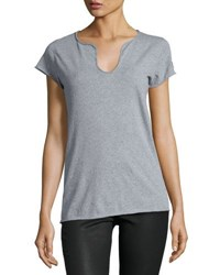 Zadig And Voltaire Short Sleeve Cotton Tee Gray