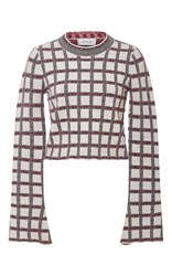 Derek Lam 10 Crosby Bell Sleeved Cropped Sweater Multi
