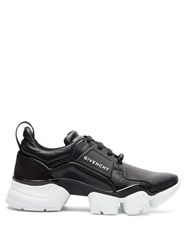 Givenchy Jaw Raised Sole Low Top Leather Trainers Black
