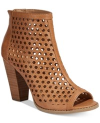 Report Ronan Perforated Booties Women's Shoes Tan