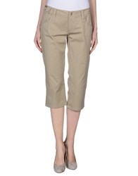Dandg Trousers 3 4 Length Trousers Women Beige