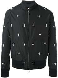Neil Barrett Fleur De Thunder Bomber Jacket Black