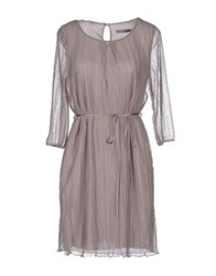 Rosamunda Short Dresses Dove Grey