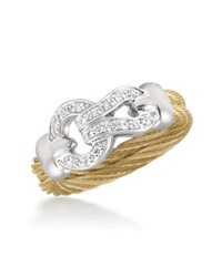 Alor 18K Diamond Loop Cable Ring
