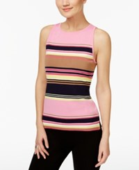 Inc International Concepts Striped Halter Sweater Only At Macy's New Pale Blush