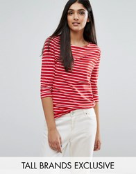 New Look Tall Breton Stripe Top Red Stripe
