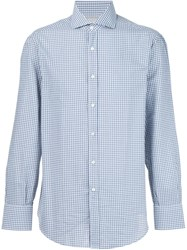 Brunello Cucinelli Checked Shirt Green