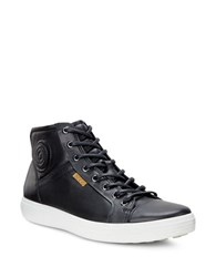 Ecco High Top Lace Up Sneakers Black
