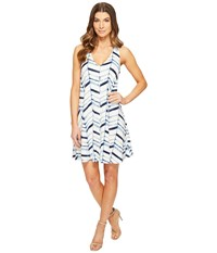 Tart Lyndin Dress Watercolor Chevron Women's Dress White