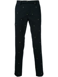Fendi Light Bulb Embroidered Trousers Black