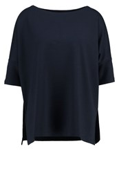 Opus Siglinde Print Tshirt Reliable Blue Dark Blue