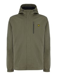 Lyle And Scott Men's Hooded Curved Hem Cotton Jacket Olive