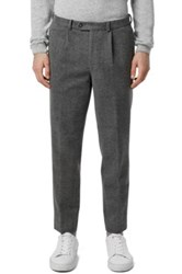 Topman Co Ord Collection Skinny Fit Grey Single Pleat Crop Trousers Gray