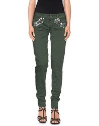 Blugirl Folies Denim Denim Trousers Women Military Green