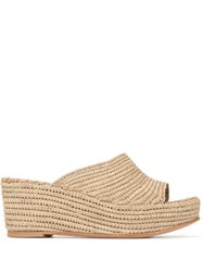 Carrie Forbes Wedge Slides Brown
