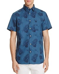 Sovereign Code Banky Tropical Regular Fit Button Down Shirt Turquoise