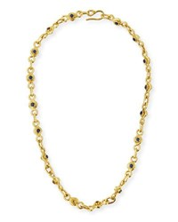 Jean Mahie 22K Gold Blue And Yellow Sapphire Necklace 19