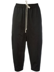 Rick Owens Drkshdw Drawstring Cropped Trousers Black