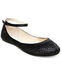 Blue By Betsey Johnson Joy Evening Flats Women's Shoes Black