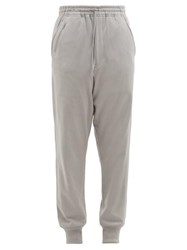 Y 3 Cotton Jersey Track Pants Grey