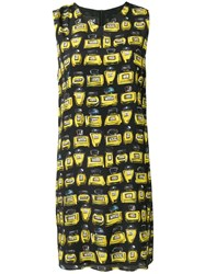 Boutique Moschino All Over Perfumes Prints Midi Dress Black
