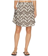 Kavu South Beach Skirt Gret Ikat Women's Skirt Brown