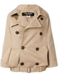 Comme Des Garcons Junya Watanabe Short Trench Coat Nude And Neutrals
