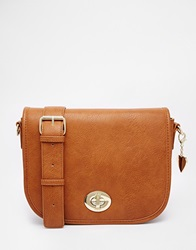 Marc B Saddle Bag Tan1