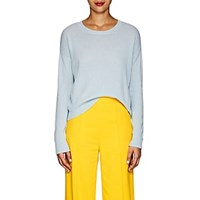 Lisa Perry Embroidered Cashmere Sweater Lt. Blue