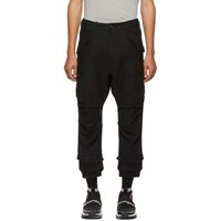 R 13 R13 Black Harem Cargo Pants