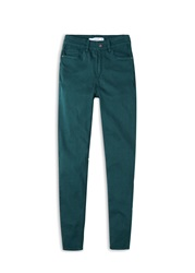 Mango Skinny Cotton Trousers Forest