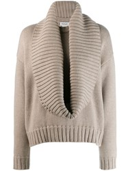 Monse Plunge Neck Knit Sweater Grey