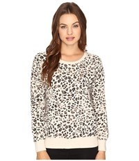 Billabong Scenic Ride Pullover Cheetah Women's Long Sleeve Pullover Animal Print