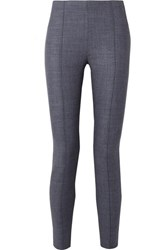The Row Cosso Stretch Wool Blend Skinny Pants Blue