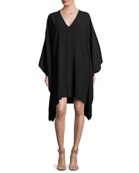 Ralph Lauren Gaelle V Neck Caftan Dress Black