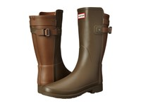 Hunter W Original Short Bt Refined Swamp Green Light Khaki Brown Women's Rain Boots