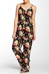 Romeo And Juliet Couture Printed Palazzo Jumpsuit Black