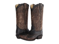 Stetson Outlaw Wingtip Boot Black Cowboy Boots