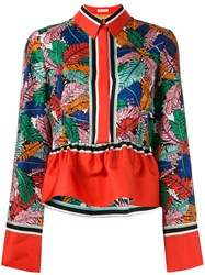 Emilio Pucci Frill Detail Collared Blouse