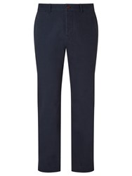 John Lewis And Co. Oliver Herringbone Chino Trousers Navy