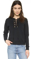 Mother The Tie Up Easy Sweatshirt Black