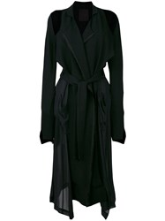 Lost And Found Ria Dunn Deconstructed Trench Coat Black