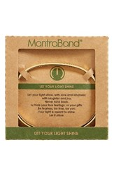 Mantraband Women's Let Your Light Shine Engraved Cuff Gold