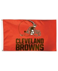 Wincraft Cleveland Browns Deluxe Flag Orange Brown