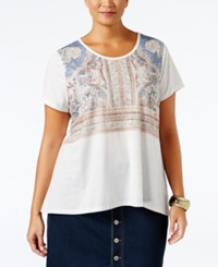 Styleandco. Style Co. Plus Size Boho Print Top Only At Macy's White Heat