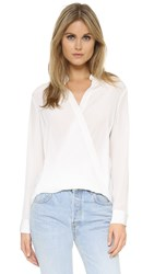 3.1 Phillip Lim Collarless Draped Blouse Antique White