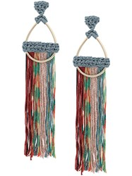 Missoni Tassel Hoop Earrings Gold