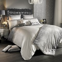 Kylie Minogue At Home Glitter Fade Duvet Cover Silver