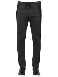 Dolce And Gabbana Side Band Stretch Viscose Jersey Pants